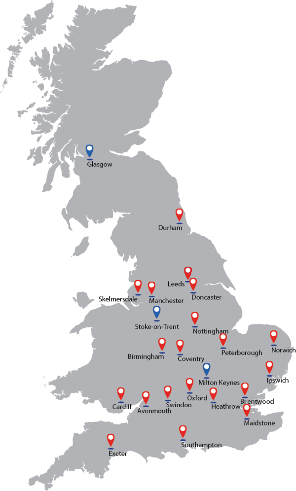Our Locations Map