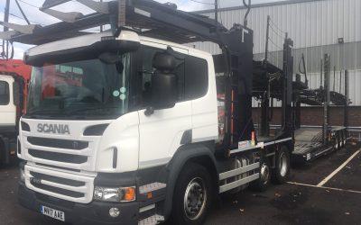 Scania P410 LB 6×2 Plus 11 car transporter